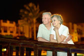 Nice old  couple at resort — Foto de Stock