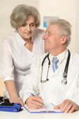 Elderly doctors — Stockfoto