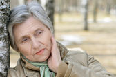 Beautiful aged woman — Stock Photo