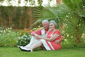 Senior couple on vacations — Stock Photo