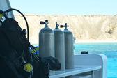 Equipment for scuba diving — Stock Photo