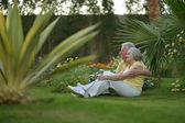 Senior couple on vacations — Stock Photo
