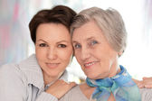 Two women at home — Stock Photo