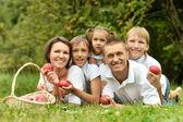 Aile piknik üzerinde — Stok fotoğraf