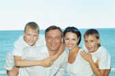 Family at  the sea — Stock Photo