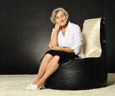 Happy elegant senior woman portrait — Foto de Stock