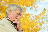 Thoughtful elder man — Stock Photo