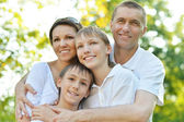 Parents and boys — Stock Photo