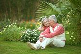 幸せな高齢者のカップル — ストック写真