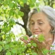 Senior woman on nature — Stock Photo #47101843