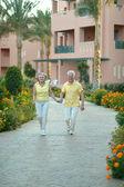 Senior couple at the resort — Stock Photo