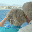 Senior couple having boat ride — Stock Photo #47819587