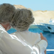 Senior couple having boat ride — Stock Photo #47819785