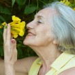 Senior woman on nature — Stock Photo #47819807