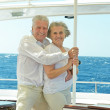 Senior couple having boat ride — Stock Photo #47820065