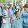 Family at town — Stock Photo #47821079