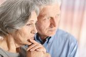 Retrato de una pareja de anciano — Foto de Stock