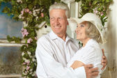 Beautiful elderly couple — Stock Photo