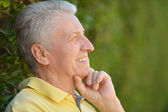Elderly man in park — Stock Photo