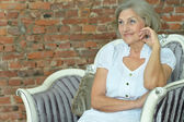 Beautiful mature woman — Stock Photo