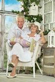 Beautiful elderly couple — Photo