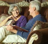 красивые пожилая пара — Стоковое фото