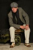 Mature man in classic suit — Foto de Stock
