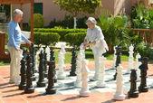 Schach spielen — Stockfoto