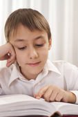 Young boy reading — Stockfoto