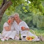 Loving aged couple — Stock Photo