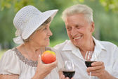 Loving elder couple  — Stock Photo