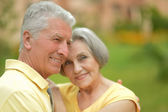 Senior couple resting at the resort — Foto Stock