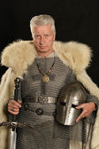 Mature Medieval knight — Stock Photo