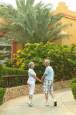 Senior couple resting at the resort — ストック写真