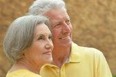 Senior couple resting at the resort — Stock Photo