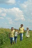 Family near field — Stock fotografie