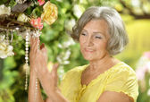 Senior woman posing — Stock Photo