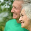 Portrait of senior couple in forest — Stock Photo #50922539