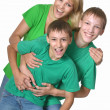 Mother hugging her two sons — Stock Photo #50922671