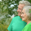 Portrait of senior couple in forest — Stock Photo #50922905