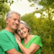 Portrait of senior couple in forest — Stock Photo #50923111