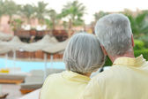 Senior couple having rest at the resort — Foto de Stock