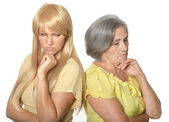 Mother and daughter having problem — Stock Photo