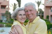 Senior couple having rest at the resort — Photo