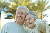 Smiling retired couple — Foto Stock