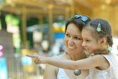 Mother with her daughter walk in summer — Foto de Stock