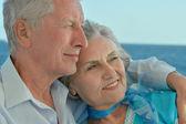 Happy retired couple — Stock Photo