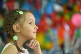 Portrait of emotional little girl — Stock Photo
