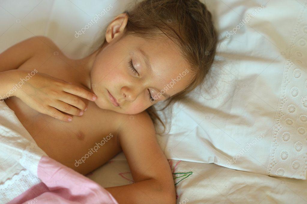 Nonsense! little girl sleeping facial confirm