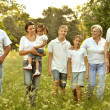 Happy Family in forest — Stock Photo #51642701